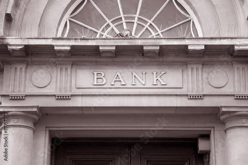 Bank Sign - 81057573