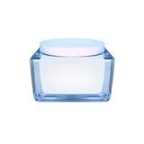 Closeup of jar of moisturizing face  beauty cream.