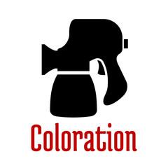 Airbrush or spray gun tool black icon