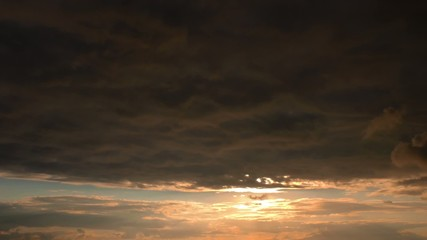 Sunset and Dark Clouds Time Lapse