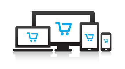 Multi-Device Shopping Cart Icons
