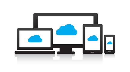 Multi-Device Cloud Icons