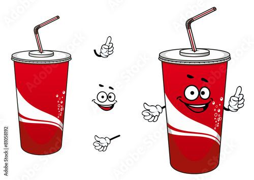 Cola or soda cartoon character - 81058192