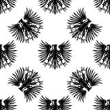 Heraldic royalty eagles seamless pattern poster