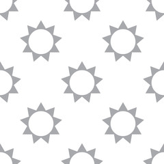 New Sun seamless pattern