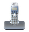 Wireless telephone with cradle on white. Vector illustration - 81059167