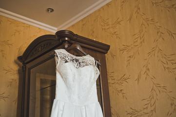 Wedding dress on a hanger 2143.