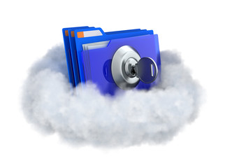 Locked folder in a cloud