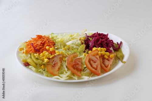Fotobehang Salade Assiette de crudités