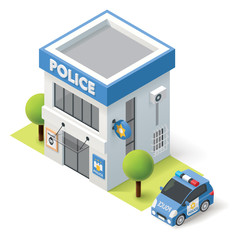 Vector isometric police department