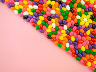 Jelly Beand Frame and Background (Pink Background)