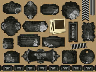 Chalkboard Labels, Frames and Tickets
