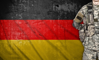 soldier and Germany flag