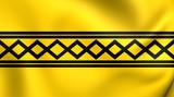 Flag of West Midlands, England. poster