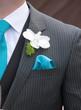 Leinwanddruck Bild - Blume im Knopfloch
