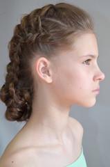 Прическа с французскими косами