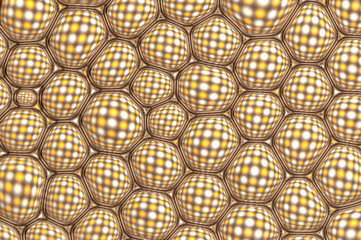 Nice yellow and white checkered pattern
