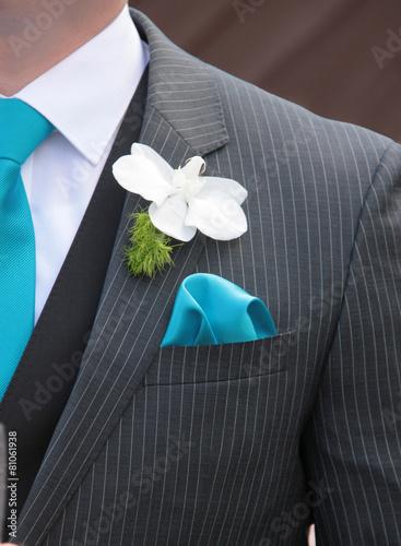Leinwanddruck Bild Blume im Knopfloch