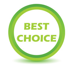 Green best choice icon