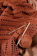 Crochet brown yarn
