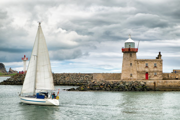 Barca a vela in Howth