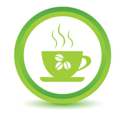 Green coffee icon