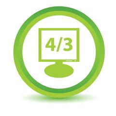 Green monitor icon