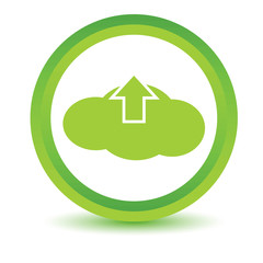 Green upload cloud icon