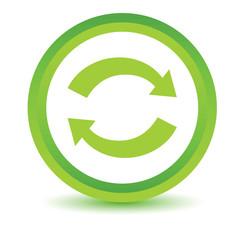 Green synchronization icon