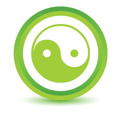 Green Yin Yang icon