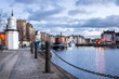 Cobbled Footpath at Leith Harbour, Edinburgh - 81064121