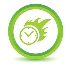 Green Hot clock icon