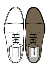 Men's classic shoes top view
