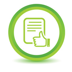 Green Document icon
