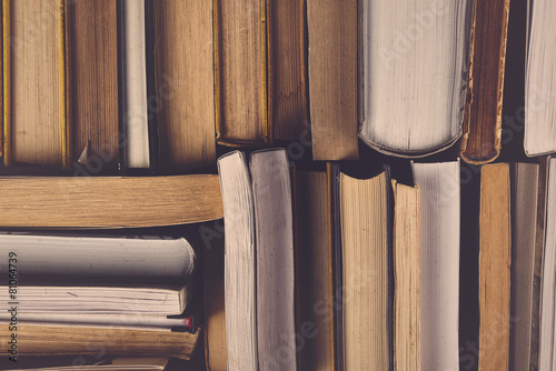 Stack Of Used Old Books - 81064739