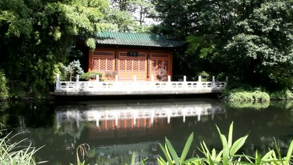 Chinese house in the park