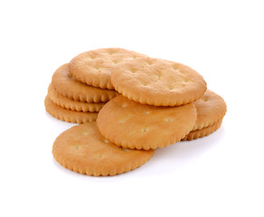 Tasty biscuits isolated on white