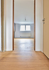 Home interior improvement with beautiful warm wood floors