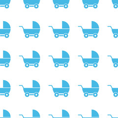 Unique Baby carriage seamless pattern