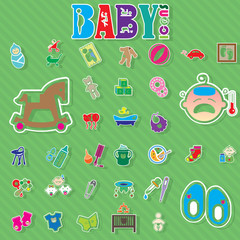 baby color icons