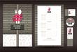 Restaurant or cafe menu vector design template vintage style - 81067787