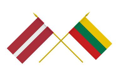 Flags, Latvia and Lithuania