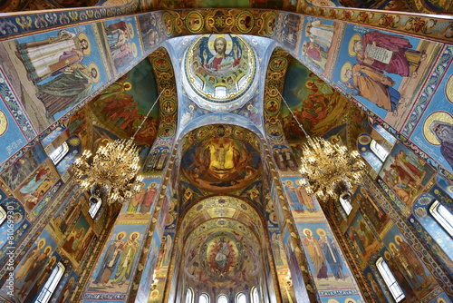 Interior View Of Church On Spilled Blood - 81069930