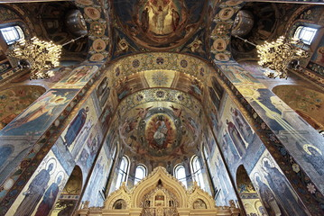 Interior View Of Church On Spilled Blood