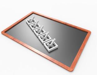 Checklist  on blackboard concept