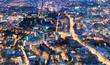 Leinwanddruck Bild - Aerial view of London