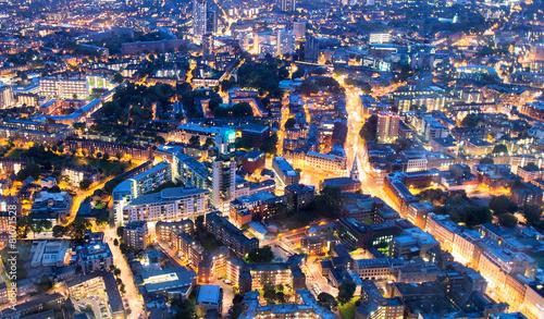 Leinwanddruck Bild Aerial view of London