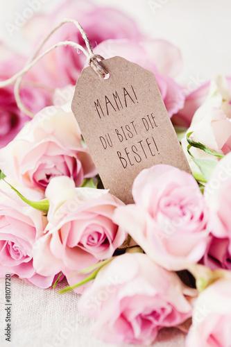 Plagát, Obraz Muttertagsgrüße - Beste Mama