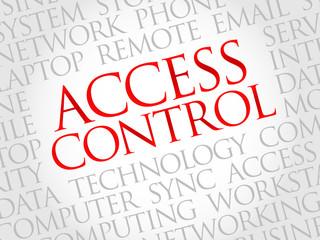 Access control word cloud concept