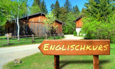 Strassenschild 32 - Englischkurs